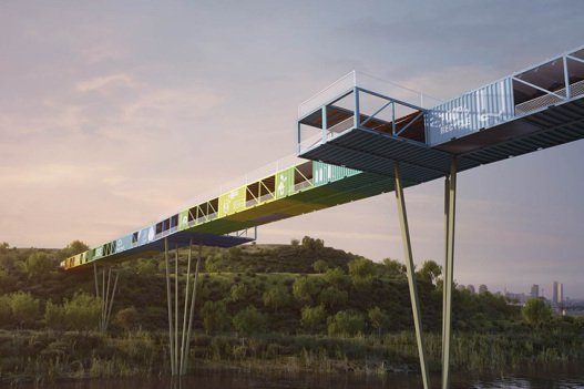 Yoav-Messer-Architects-Recycled-Containers-Econtainer-Bridge