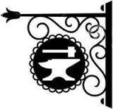 http://www.dreamstime.com/stock-photos-hanging-signboard-vintage-forging-decorative-elements-bakery-butcher-shop-restaurant-pub-bar-workshop-symbols-image50287883